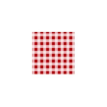 Imagem de Toalha De Mesa Descartável Xadrez Vermelho 10 Unidades Plaspet