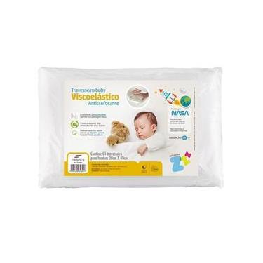 Travesseiro Nasa Baby Anti Sufocante Recém Nascido 0+ 30X40