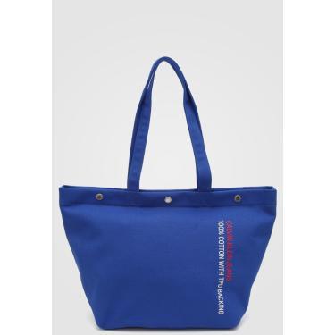 Bolsa Calvin Klein Lettering Azul-Marinho Calvin Klein K60K605248 feminino