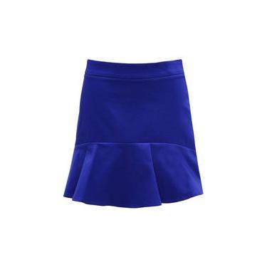 Saia Feminina Modelo Flare Azul Seiki 540064