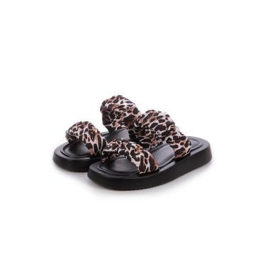 Imagem de Sandália Flat de Tiras Damannu Shoes Melissa Animal print Onça  feminino