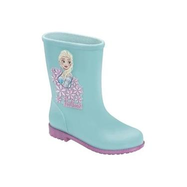 Bota Galocha Infantil Frozen Grendene Kids 21753 Azul/Rosa N°26/27