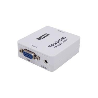 Adaptador Conversor VGA para HDMI com Áudio (Computador para TV com Entrada HDMI)
