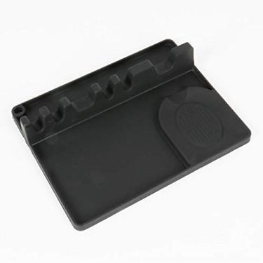 DEARLOYEA Suporte para colher de silicone 2 em 1, descanso para utensílios de cozinha com 5 compartimentos