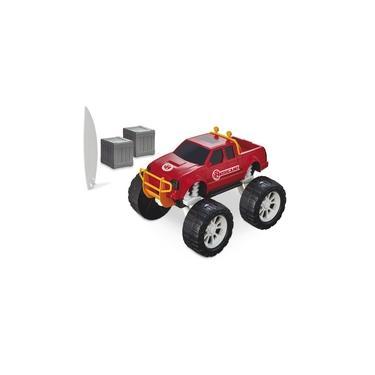 Imagem de Caminhonete Monster Brinquedo Time Resgate Bombeiros Com Acessorios Divertidos