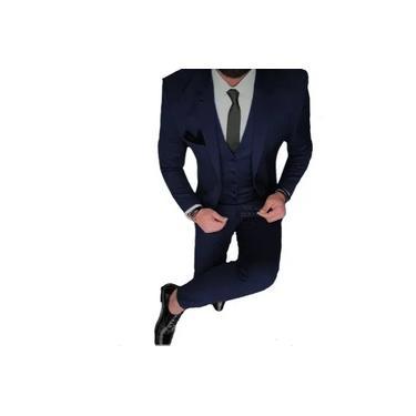 Terno masculino Oxford Tradicional Azul Marinho