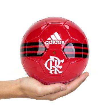 Mini Bola Futebol Adidas Flamengo FS6618, Cor: Vermelho/Preto, Tamanho: U