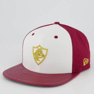 Boné New Era Fluminense 950 Vermelho e Branco