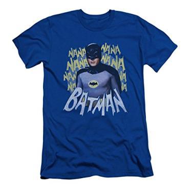 Imagem de Batman TV Series - Camiseta masculina slim fit tema música, Azul, XXG