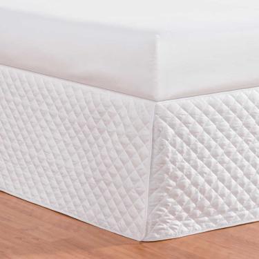 Imagem de Saia para cama box matelada solteiro branca - PT