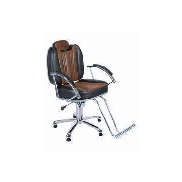 Cadeira P/ Barbearia Hidraulica Reclinavel,barbeiro, Cabeleireiro, Móveis Salão, Fortebello Moveis - Cafe Retro / Preto