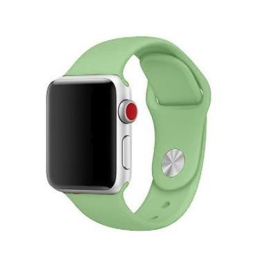 Pulseira Sport em Silicone para relógio Apple Watch 42mm Series 3 2 1 (Menta 42mm ML)