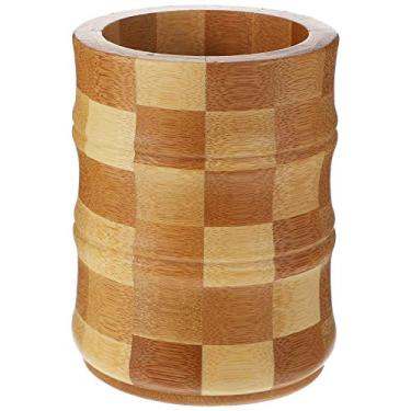 Hemoton Porta-Pauzinhos de Bambu Porta-Utensílios de Cozinha Organizador de Bancada Organizador de Armazenamento de Utensílios de Cozinha para Pauzinhos Garfos Colheres