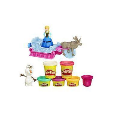 Imagem de Conjunto Play-Doh Trenó Frozen e Amigos B1860 - Hasbro