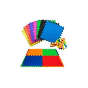 Kit 10 Pçs Tapete De Eva Tatame Escolar Infantil 50x50x 1cm - Yupitoys max