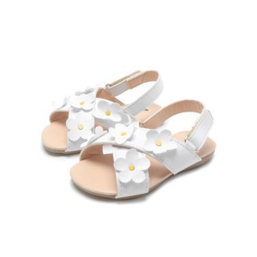 Sandália Tricae Menina Floral Branco Tricae 15.925.02 menina