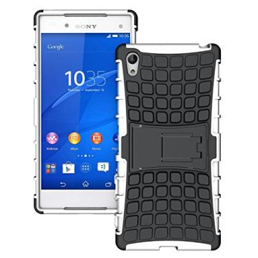 SCIMIN Capa premium para Sony Xperia Z5, capa premium para Xperia Z5, proteção de camada dupla/à prova de choque/resistência a quedas, capa híbrida robusta com suporte para Sony Xperia Z5 Premium de 5,5 polegadas