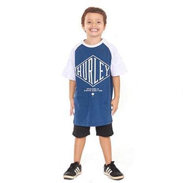 Camiseta Hurley Infantil 634704 Azul M