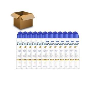 Desodorante Antitranspirante Aerossol Dove Original 150ml – 12 Unidades