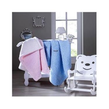 Cobertor Bebê Carneirinho Não Alérgico Rosa Jolitex