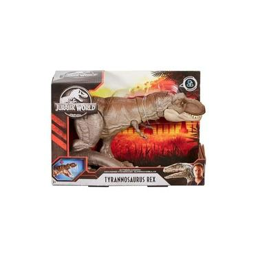 Dinossauro Jurassic World T Rex Mordida Feroz Mattel Glc12