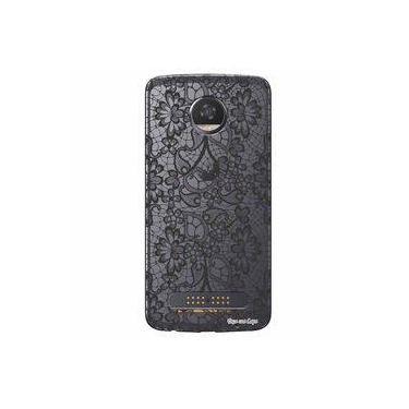 Capa Transparente Exclusiva Para Motorola Moto Z2 Play Renda - Tp299