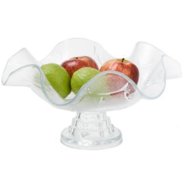 Fruteira De Mesa em Vidro com Pé - Estilo Romano