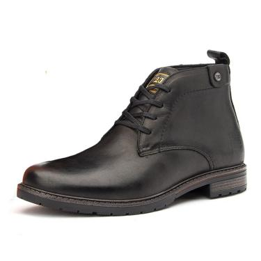 Bota Coturno em Couro Caterpillar Trivalle Shoes Preto  masculino