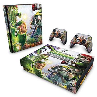 Skin Adesivo para Xbox One X - Plants Vs Zombies Garden Warfare