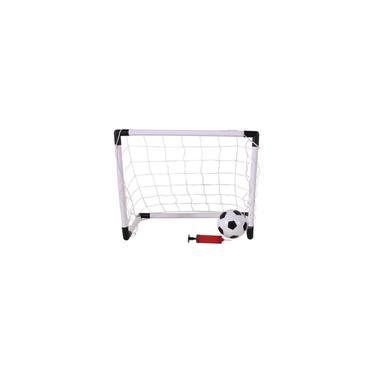 Imagem de Mini Trave Gol Futebol Infantil 2 Em 1 Com Bola E Bomba - Dm