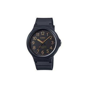 f0dabd87081 Relógio Casio Preto Borracha Masculino Vintage Analógico Mostrador Preto  MW-240-1B2VDF