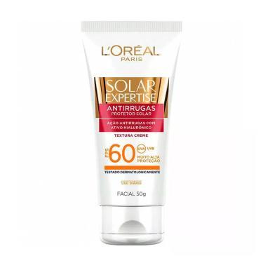 Protetor Solar Facial Antirrugas L'Oréal Expertise FPS 60 com 50g 50g