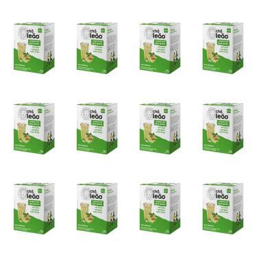 Leão Cold Brew Chá Verde/Gengibre/Limão Chá Gelado Sachê C/10 (Kit C/12)