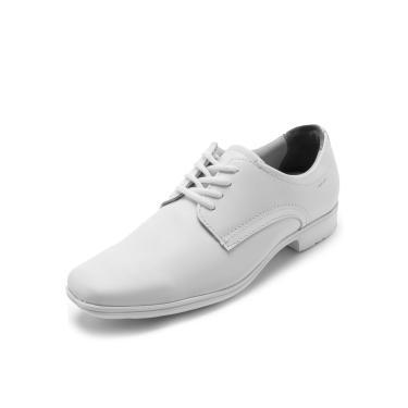3e616b6e6c Sapato Social Couro Pegada Recortes Branco Pegada 22309-51 masculino