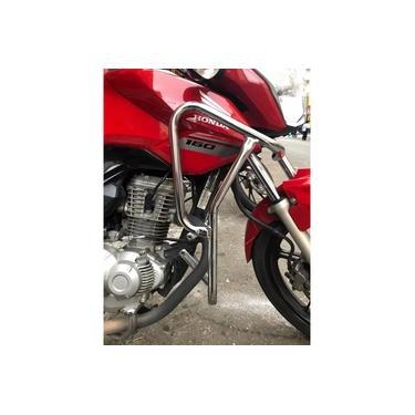Protetor Motor Carenagem Tanque Cromado Honda Fan Titan 160