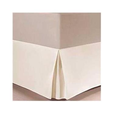 Imagem de Saia Cama Box Solteiro King Percal 96Cmx203Mx32Cm Marfim