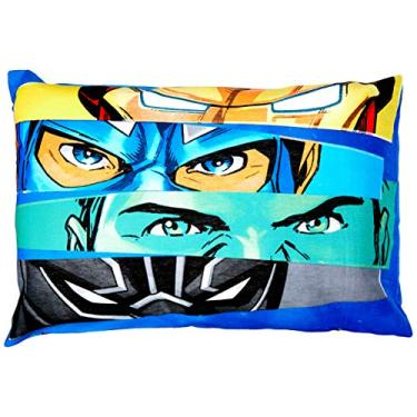 Imagem de Fronha Avulsa Lepper Avengers Azul 50x70 cm, 1 unidade