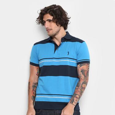 d21ff377ab Camisa Polo Aleatory Malha Fio Tinto Masculina - Masculino