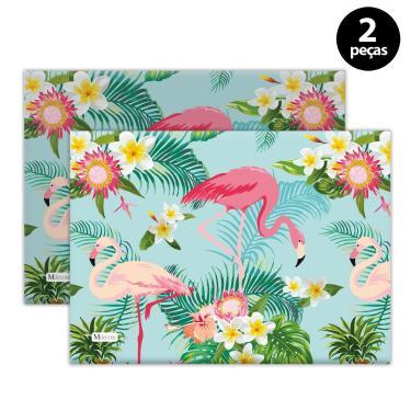 Imagem de Jogo Americano Mdecore Flamingo 40x28 cm Verde 2pçs