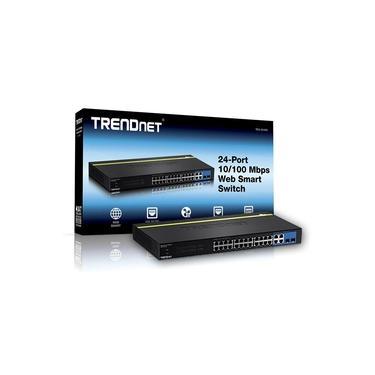 Switch 24 portas Trendnet TEG-424WS - 24 Portas 100Mbps + 4 Portas Gigabit + 2 portas SFP