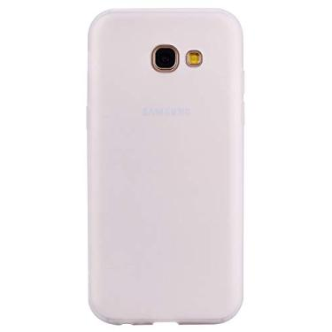 Shunda Capa para Galaxy A5 2017, capa ultrafina macia de silicone TPU fosco à prova de choque capa protetora para celular para Samsung Galaxy A5 2017 - branca