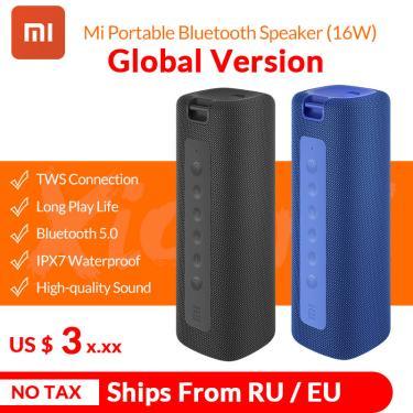 2020 nova xiaomi mi portátil bluetooth alto-falante 16w tws estéreo super graves alto-falante ipx7 à