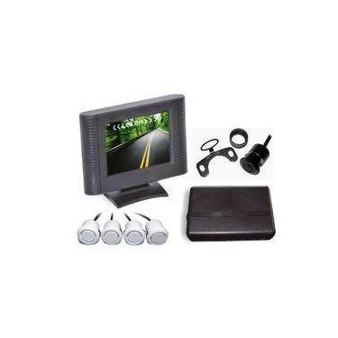 Sensor De Estacionamento 4 Sensores Prata E Display LCD B092 Orbe