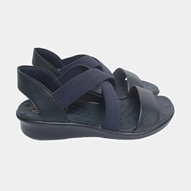 Sandália de Elástico Malu Super Comfort Cléo Feminino Marinho 36