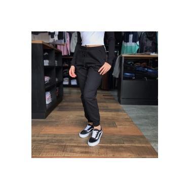 Calça Feminina Jogger Bengaline Bolso Cordão Blogueira Moda