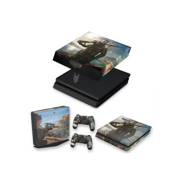 Capa Anti Poeira e Skin para PS4 Slim - Sniper Elite 4