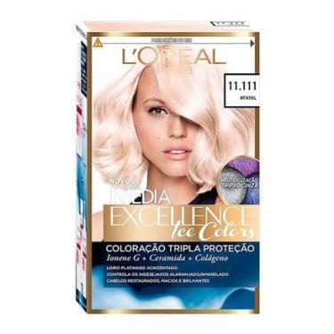 Imagem de Tintura Creme Imédia Excellence L'oréal Ice Colors #Fatal 11.111 Kit LORÉAL
