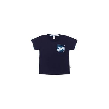 Camiseta Infantil Masculina com Bolso Marinho Mikamix - MM1864-MA