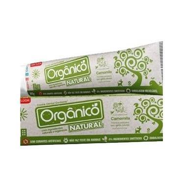 Pasta/Creme Dental Contente Orgânico sem Corantes e Fluor 80G