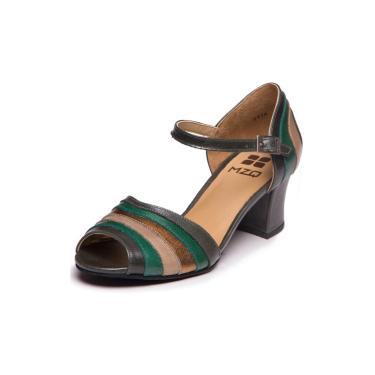 Sandália MZQ - Folha / Esmeralda / Taupe / Metalizado Bronze 7844  feminino